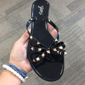 Black studded sandal